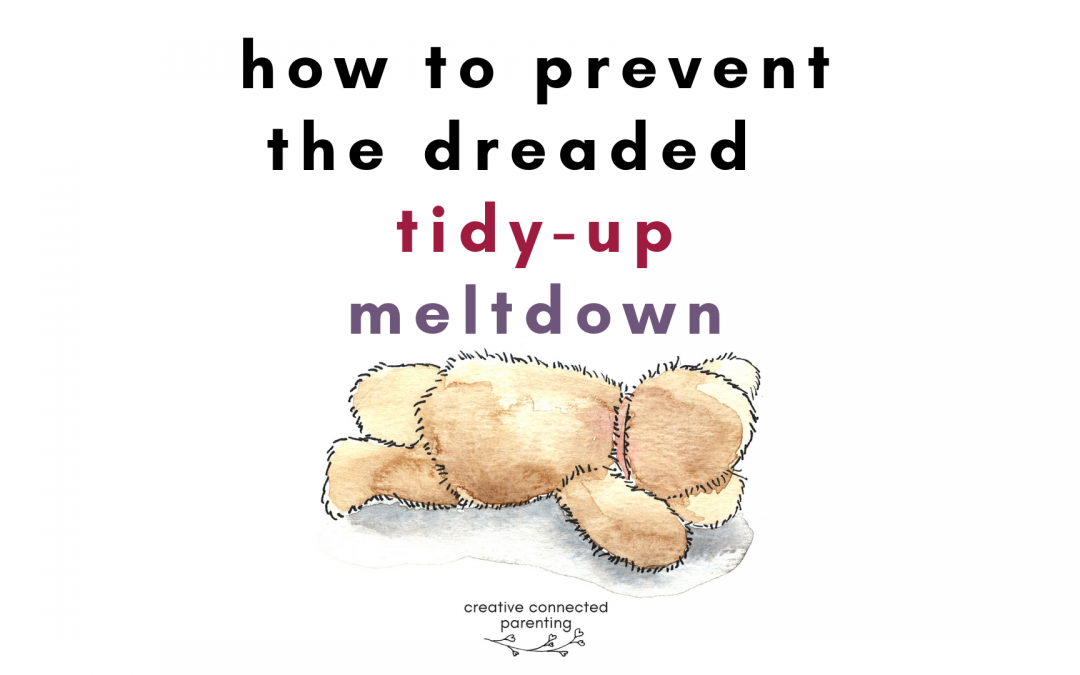 It's too hard, I can't do it! Help for kids who won't clean up
